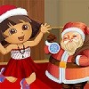 Dora con Santa Dressup juego