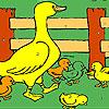 Duckie en la coloración de la granja juego