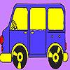 Para colorear de autobuses enano juego