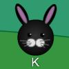 Conejitos de Pascua escribiendo juego