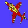 Avión equipado para colorear juego