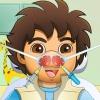 Explorador de muchacho de nariz médico juego