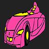 Colorear coche rápido futurista juego