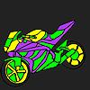 Fascinante y rápido para colorear motocicleta juego