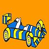 Colorear coche de carreras rayas rápido juego