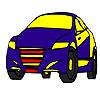 Para colorear de coche modelo Fast azul juego