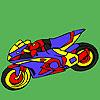 Fascinante para colorear motos juego
