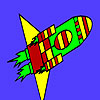 Misil rápido en color de espacio juego