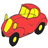 Primer colorante del coche rojo juego