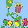 Flores en el color de la granja juego