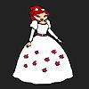 Chica de Novia de flor para colorear juego