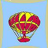 Colorear globo volador juego