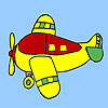 Avión de cuatro plazas para colorear juego