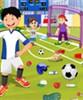Campo de fútbol de limpieza juego