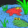 Amigos de la rana en la coloración del lago juego