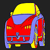 Colorear coche caliente divertido juego