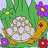 Divertida tortuga para colorear juego