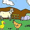 Funny farm animales para colorear juego