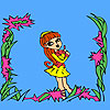 Funny student on the frame coloring juego