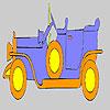 Oro para colorear de coche viejo juego