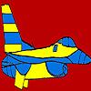 Colorear gran avión azul juego