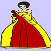 Feliz de la señora flor para colorear juego