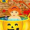 Halloween bebé baño juego
