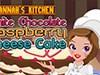Cocina de Hannahs blanco Chocolate queso frambuesa juego