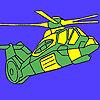 Para colorear helicóptero militar pesado juego
