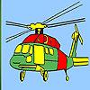 Para colorear helicóptero pesado juego