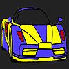 Para colorear de coches de alto rendimiento juego