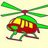 Para colorear helicóptero caliente juego