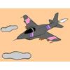 Avión de combate para colorear juego