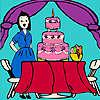 Jenny a la fiesta de cumpleaños para colorear juego