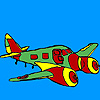 Jet airplane coloring juego