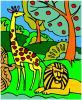 para colorear de la selva juego
