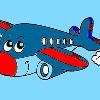 Niños colorear avión juego