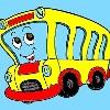 Niños para colorear de autobuses juego