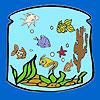 N de la linterna los peces para colorear juego