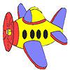 Colorear avión pequeño juego