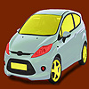 Little bright green car coloring juego