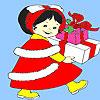 Colorante de regalo de cumpleaños de niña pequeña juego