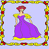 Lonely princess in the palace coloring juego