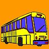 Para colorear de autobuses calle juego