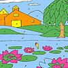 Para colorear jardín Lotus juego
