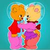 Encantador oso para colorear juego