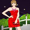 Lucy en vestido rojo juego