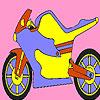 Metal motorbike coloring juego