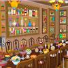 Objetos de sala comedor desordenado juego