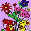 Ratones en el jardín para colorear juego